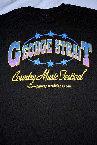 George Strait Country Music Festival Concert Tour Black T Shirt Adult